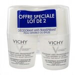 Déodorant anti-transpirant 48H roll-on pour peau sensible - lot de 2 x 50 ml