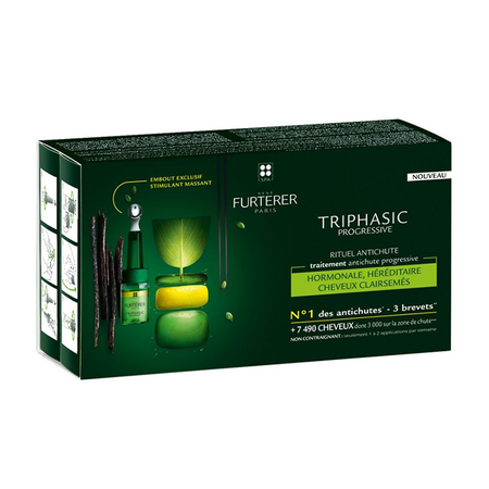 Triphasic - Progressive rituel anti-chute - 8 doses de 5,5 ml - René Furterer