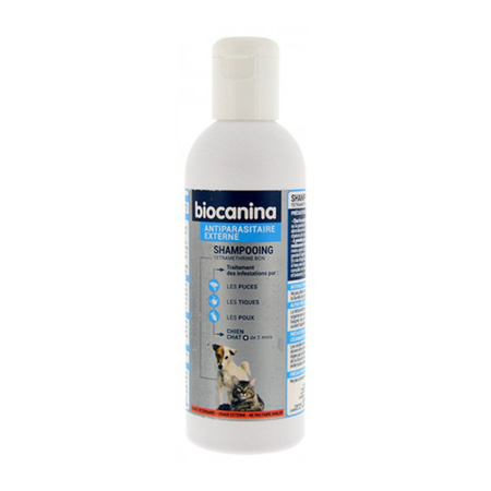 Shampoing Antiparasitaire Chiens et Chats Flacon de 200 ml - Biocanina
