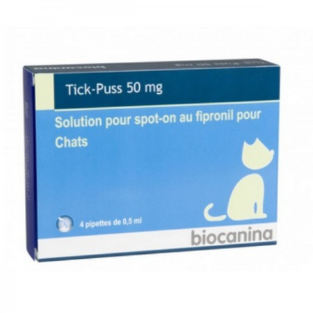 TickPuss Chat 50 mg BT 4 pipettes
