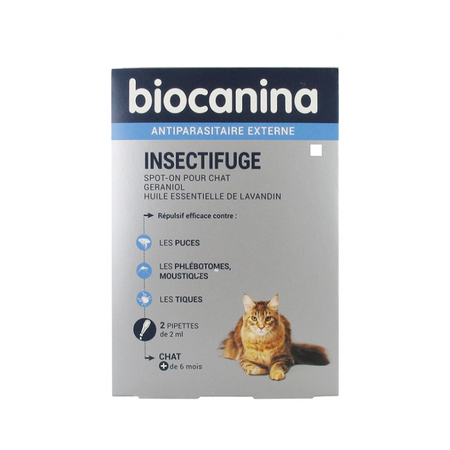 Insectifuge Naturel Spot On Chat Bt 2 pipettes 2 ml