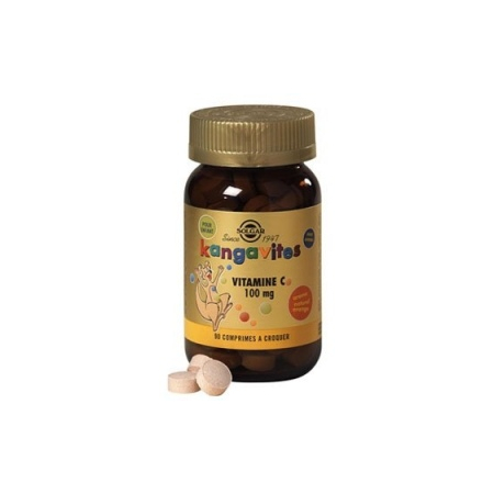 Kangavites Vitamine C 100 mg arôme naturel orange - 90 comprimés