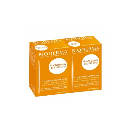 Photoderm Bronz Oral complément nutritionnel - 2 x 30 capsules - Bioderma