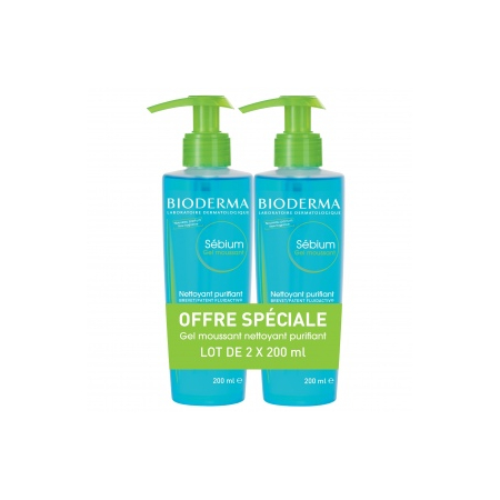 Sébium Moussant - Lot 2 x 200 ml - Bioderma
