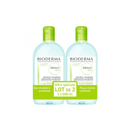 Sébium H2O - Lot de 2 x 500 ml - Bioderma