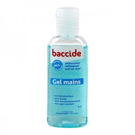 Gel hydroalcoolique mains - Format mini 30 ml - Baccide