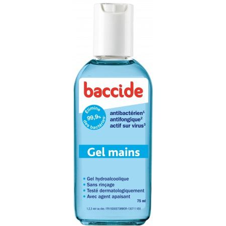 Baccide gel hydroalcoolique mains - 75 ml