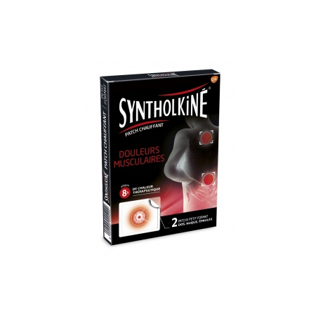 Syntholkiné Patchs Chauffants Zones ciblées - 2 patchs - Synthol