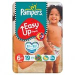 Couches Easy-up taille 6 (+16 kg) paquet de 19 couches - Pampers
