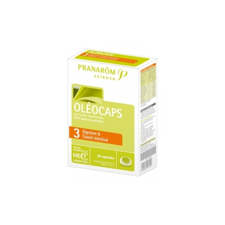 "Oléocaps N°3 ""Digestion & Transit intestinal"" - 30 capsules"