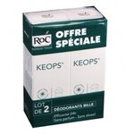 Kéops déodorant à bille - lot de 2 x 30 ml - Roc