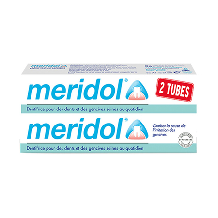 Dentifrice Méridol Protection Gencives - 2 X 75ml - Méridol