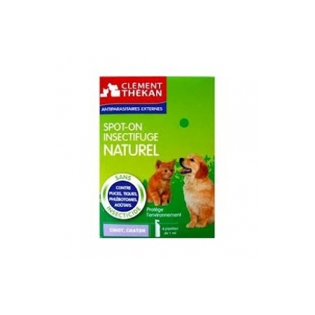 Spot-on insectifuge naturel chiot, chaton - 4pipettes