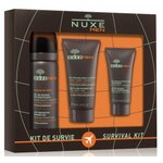 Nuxe men kit survie gel gras + gel douche + gel hydratant - 80ml