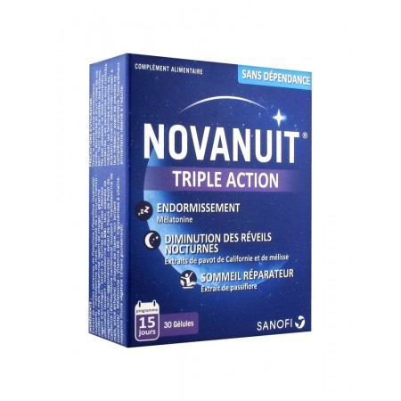 Novanuit triple action - 30 gélules - Sanofi France