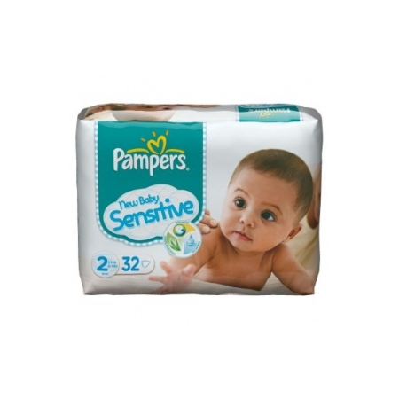 Couches New Baby Sensitive  taille 2 (3 à 6 kg) paquet de 32 couches