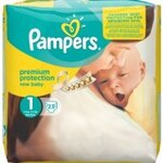 Couches New baby taille 1 (2 à 5 kg) paquet de 23 couches - Pampers