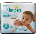 Couches New Baby Sensitive taille 2 (3 à 6kg) paquet 28 couches