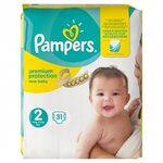Couches New baby taille 2 (3 à 6 kg) paquet de 31 couches - Pampers