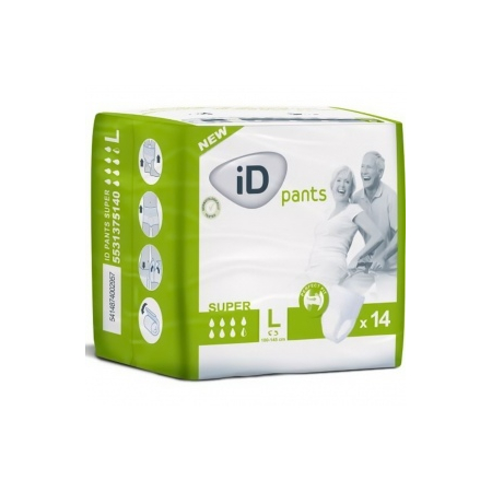 ID PANTS SUPER TAILLE L PACK 14 * 8 COUCHES ADULTES - GROS VOLUME