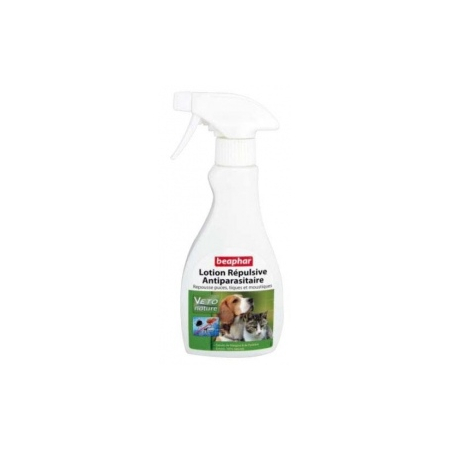 LOTION INSECTIFUGE REPULSIF CHIEN ET CHAT BEAPHAR 250 ML