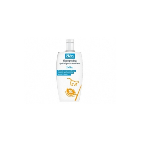 SHAMPOING HERY PEAUX SENSIBLES POUR CHATS FLACON 125 ML - Hery