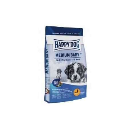 CROQUETTES POUR CHIOT HAPPY DOG SUPREME MEDIUM BABY 28 SAC 10 KG