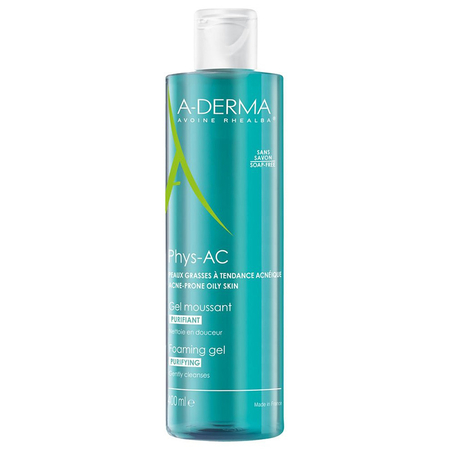 A-Derma Phys-AC Gel Moussant Purifiant 400 ml