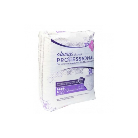 Always discreet Professional Taille L Paquet de 10 protections