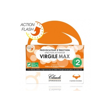 Virgile Max 2 sachets Provocateur d'érection - Claude Aphrodisiacs