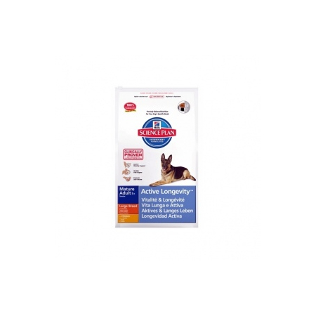 croquettes hill's science plan canine mature 5+ active longevity grandes races sac 12 kg