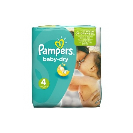 Couches Baby Dry taille 4 Maxi (7 à 18 kg) paquet de 174 couches,PAMPERS,