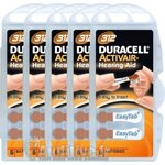 Piles Auditives DURACELL Activair 312 - 5 plaquettes