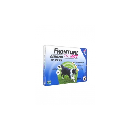 Frontline Tri-Act Chiens 10-20 kg 3 Pipettes - Frontline