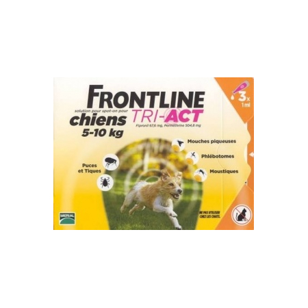 Frontline Tri-Act S 5-10kg 3 pipettes - Frontline