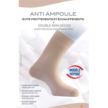 Chaussettes Double Peau Beige Taille 38/40