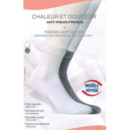 Chaussettes Thermo-Soft Anti Pieds Froids Gris T35/37