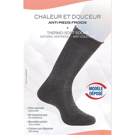 Chaussettes Thermo Soft Anti Pieds Froids Pour Homme Taille 44/46