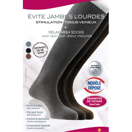 Chaussettes Relaxantes Anthracite T38/40 - Innov'Activ