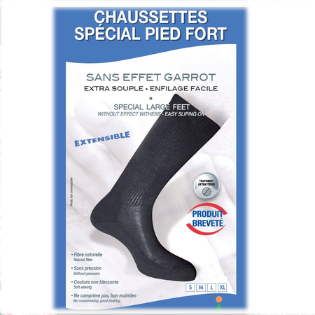 Chausettes Extra Souple Spécial Pied Fort Taille 38/40 - Innov'Activ