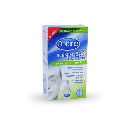 Optone Actimist 2en1 - Solution pour yeux fatigués & inconfort - Optone