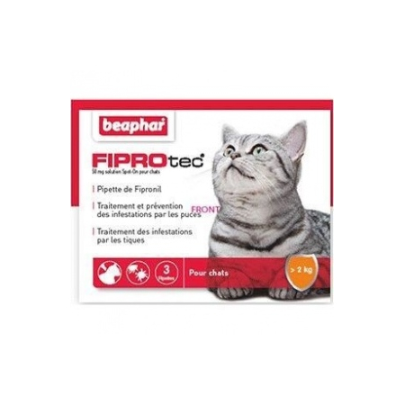 FIPROTEC CHAT 3 PIPETTES Anti-puces