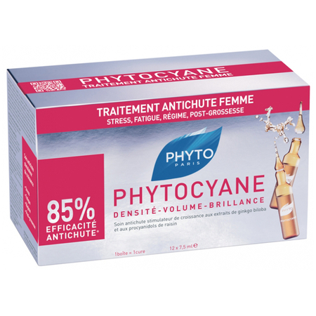 Phytocyane - Antichute Femme - 12 Ampoules