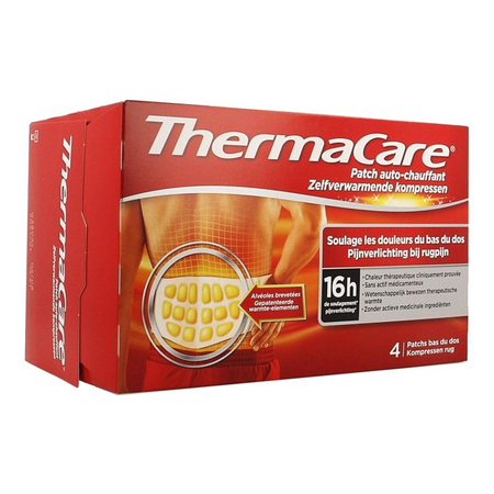 Thermacare Patch Auto-Chauffant - Bas du Dos 4 Patchs - ThermaCare