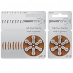 Piles Auditives PowerOne 312 - Lot de 10 Plaquettes
