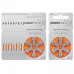 Piles Auditives PowerOne 13 - Lot de 10 Plaquettes