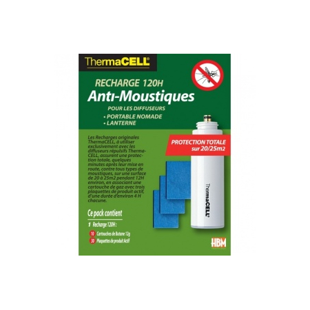 Recharge Anti-Moustiques 120H pour Portable Nomade & Lanterne - ThermaCell