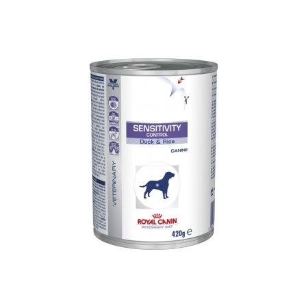 ALIMENT HUMIDE ROYAL CANIN VDIET CHIEN SENSITIVITY CONTROL CANARD BOITE 12 X 420 G