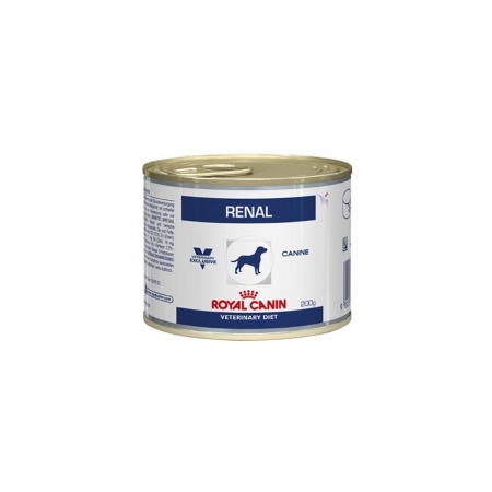 ALIMENT HUMIDE ROYAL CANIN VDIET CHIEN RENAL BOITE 12 X 200 G