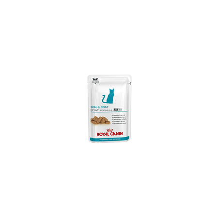 ALIMENTATION HUMIDE ROYAL CANIN VET CAT SKIN & COAT SACHETS 12 X 100 G pour chat